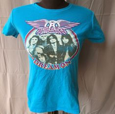 42052bc47 Aerosmith - Ladies Lightweight Sz Medium Rock Tee Retro Shirt Steven Tyler  - Dream On Band Shirt Joe Perry Led Zeppelin Motley Crue acdc