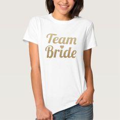 Team Bride Gold Glitter Look Tshirts T-Shirt, Hoodie