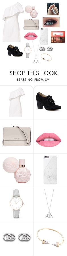 """Untitled #163"" by reka15 on Polyvore featuring A.L.C., Lands' End, Michael Kors, L.A. Girl, CLUSE, Gucci and Too Faced Cosmetics"
