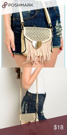 Fringe Shoulder Bag Fringe Shoulder Bag, this is a great small compact bag that pairs well with any trend.  It's fun fringe and detail make this bag a perfect bag for spring and summer. Bags Shoulder Bags