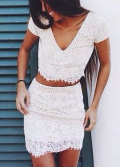 two piece lace