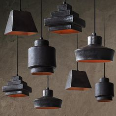 Tom Dixon Lustre Black Ceramic Pendant Light Replica