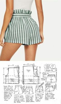 Modest fashion 721842646512564093 - Summer super fashion shorts sewing design Source by laureannelddidier Sewing Shorts, Sewing Clothes, Diy Clothes, Diy Shorts, Modest Shorts, Belted Shorts, Long Shorts, Striped Shorts, Modest Outfits