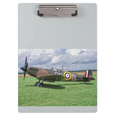 """Spitfire AR312 Clipboard idea gift for the aviation enthusiast Excellent for note-taking and organizing important papers, these  ultra-sturdy acrylic clipboards will keep you on track and in style. Dimensions:  12.5""""l x 9""""w #aircraft #warbird"""