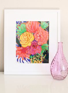 Gorgeous Print / Peony in Coral