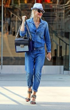 denim on denim - gwen's flawless style