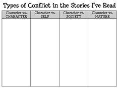 003 conflict graphic organizer Classroom Ideas Pinterest