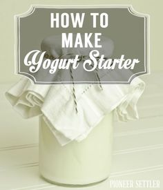 Learn how to make yogurt starter with this easy yogurt starter recipe. You'll be making your own homemade yogurt in no time with this healthy, easy recipe. Homemade Yogurt Recipes, Homemade Cheese, Milk Recipes, Real Food Recipes, Cooking Recipes, Homemade Greek Yogurt, Atkins Recipes, Homemade Ice, Cream Recipes