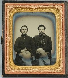 Lot 307: Civil War Union Brothers, Ambrotype - Image 1 - TO BID ONLINE, VISIT OUR CATALOG AT http://www.liveauctioneers.com/catalog/49503_winter-fine-art-and-antiques-auction/page16?rows=20