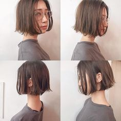 Image may contain: 1 person Kawaii Hairstyles, Hairstyles Haircuts, Pretty Hairstyles, Asian Bob Haircut, Short Hair Cuts, Short Hair Styles, Hair Trim, Hair Arrange, Hair Images