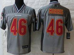 Nike Washington Redskins #46 Alfred Morris 2013 Gray Vapor Elite Jersey
