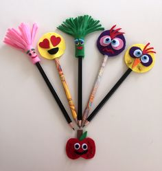 Kalem süsleri - pencil toppers