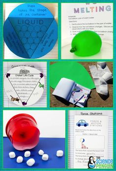 Science in a Snap Units for primary students-- fun units that encourage writing and exploration!  See all current topics.