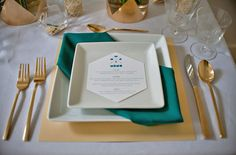 Not a huge gold fan, but I liked the way this napkin was wrapped. Esp. since I use square white plates at home!