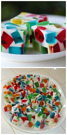 Stained glass jello.  I want to try it in Halloween colors.