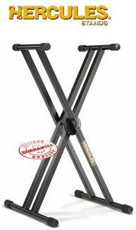 Hercules EZ Lock Keyboard Stand, KS120B by Hercules. $89.95. Hercules once again sets the standard for quality and durability with the KS120B Double X Keyboard Stand!