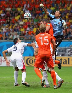 Keylor Navas of Costa Rica against the Netherlands
