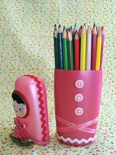 recycling plastic - crafts ideas - crafts for kids
