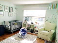 Mint is the coolest color in nurseries right now. Can easily work for any gender and pairs well with so many colors. #ProjectNursery #BabyCenterBlog