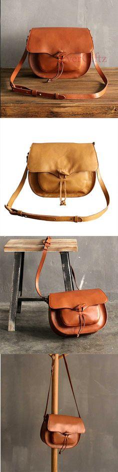 Handmade leather vintage women purse satchel bag shoulder bag crossbody bag
