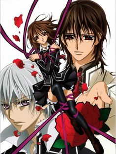 Vampire knight! LOVED THE book version and the show. though i hated how it ends!!! still luv it tho