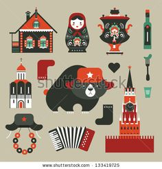 Find Vector Set Various Stylized Russian Icons stock images in HD and millions of other royalty-free stock photos, illustrations and vectors in the Shutterstock collection. Royalty Free Images, Royalty Free Stock Photos, Russian Icons, Cute Illustration, Drawing, Vector Art, Vector Stock, Dna Test, Dna Project