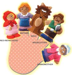 Little Red Riding Hood Felt Finger Puppets - picture only, error on link but incredible detail