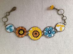 """Tin Jewelry Bracelet """"Get Happy"""" Tin for the Ten Year Anniversary"""