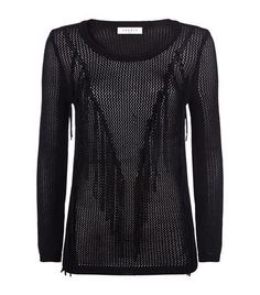 Sandro Succes Fringe Jumper available to buy at Harrods. Shop designer women's knitwear online and earn Rewards points.