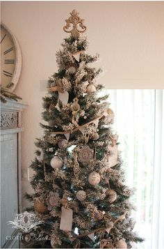 cloth and patina french rustic christmas tree1