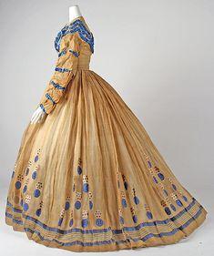 ca. 1865, American, cotton