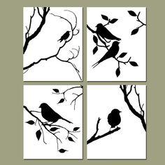 Dies ist eine Sammlung von vier modernen 8 x 10-Vogel-Silhouette-Drucke, die zusammen in einem Quad Format hing oder separat aufgehängt werden können. Sauber, modern und frisch. Passen Sie die Farben Ihrer Wahl. Möchten Sie eine andere Größe? Fragen Sie uns!    Dieses Set ist in schwarz und weiß dargestellt, aber ich kann es tun, in jeder gewünschten Farben! Lassen Sie mich wissen, welche Farben Sie im Abschnitt Hinweis für Verkäufer beim Kauf möchten.    Jedes Stück wird frisch gedruckt…