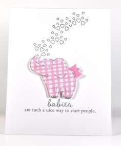 Polka Dot Paperie: Baby Girl Card - adorable.