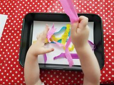 Making art with crepe paper and water!