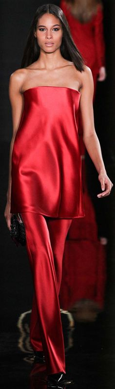 Valentin Yudashkin fall 2015 | @ red is the color