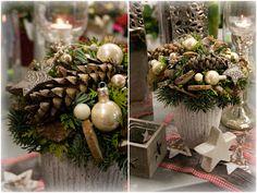 Vánoční kytice do zlata #christmas #flower #gold #decoration #arrangement