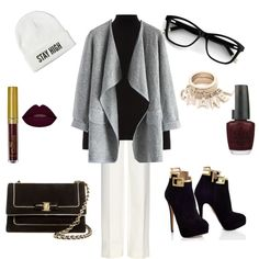 White monday by anne-kristoffersen on Polyvore featuring polyvore, fashion, style, Warehouse, Chicwish, Diane Von Furstenberg, Salvatore Ferragamo and OPI