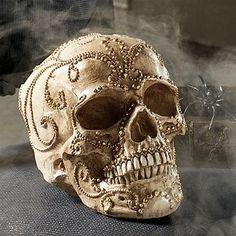 Skull Gold Jewel Head
