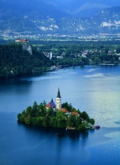 Lake Bled, Slovenia. I drove thru Slovenia a few yrs ago, but did not see THIS! Must go back.