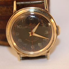 a00455422a8 Vintage Mido Men s Watch 14Kt gold circa 1950 s by VintagebyViola Luxury  Watches