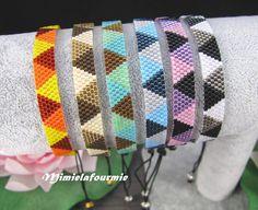 Mini pulsera de delicas miyuki patrón por mimielafourmieperle