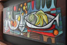 Ellamarie Woolley Enamel Copper Panel Mid Century Modern Abstract Eames Drerup | eBay