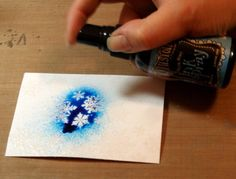 Embossing resist using Dylusions ink spray