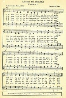 vintage sheet music printable - America the Beautiful - #vintage #music #sheet #printable #printables #altered #art #scrapbooking #papercrafts #paper #crafts - ≈√