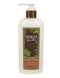 Hugo Naturals Creamy Coconut body lotion- natural. chemical free.