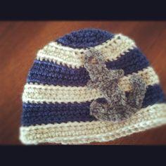 Little anchor hat pattern Crochet Beanie, Crochet Gifts, Crochet For Kids, Crochet Ideas, Crochet Baby, Crochet Patterns, Yarn Projects, Crochet Projects, Nautical Crochet