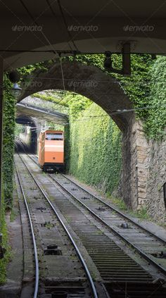 Buy Bergamo, Italy funicular railways by AigarsR on PhotoDune. Bergamo, Italy funicular railways links the Città Bassa (lower town) with the Città Alta (upper town) Places In Europe, Oh The Places You'll Go, Places To Visit, Verona, Italian Village, Como Italy, U Bahn, Voyage Europe, Travel Channel