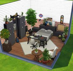 Sims 4 Build, Sims House, Patio, Building, Outdoor Decor, Room, Home Decor, Ideas, Bedroom