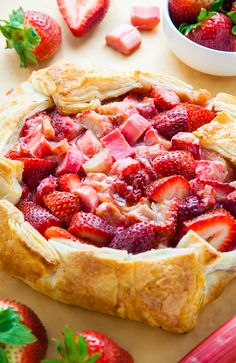 Today I'm sharing with you my super easy recipe for Strawberry Rhubarb Galette. Top it with ice cream for an extra decadent dessert.