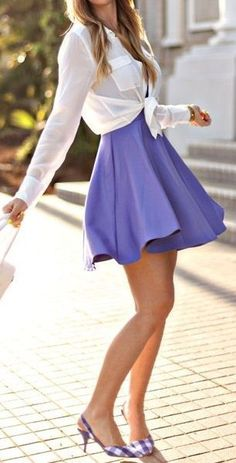 Purple Skirt <3 Need this, only thing is wish it was a little longer.